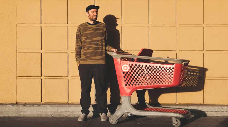 man shopping at Target