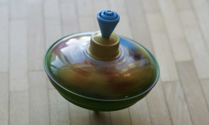 a top spinning