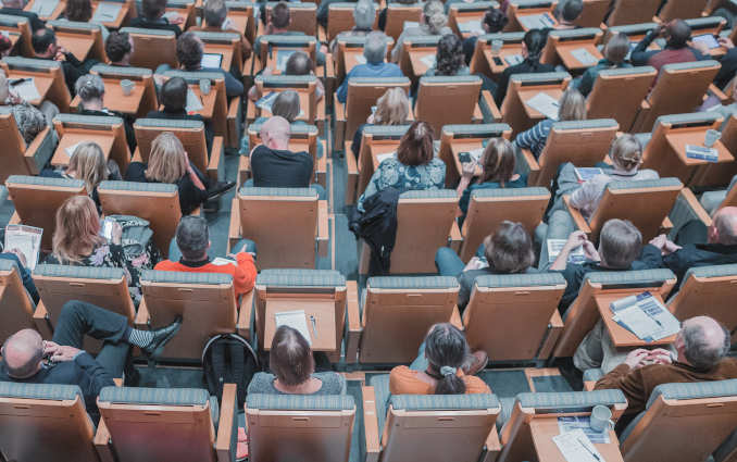 people in college lecture