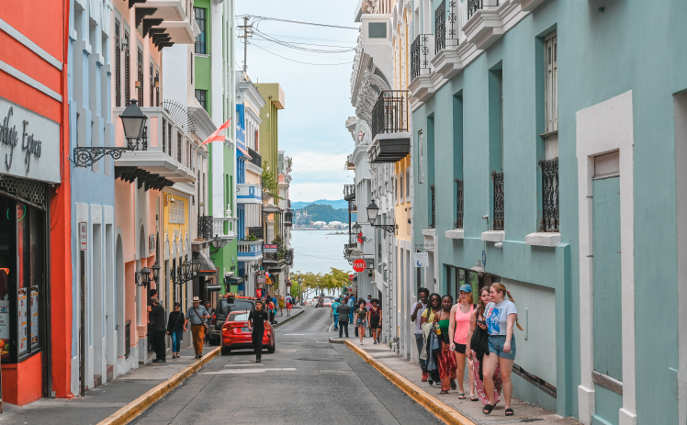 a street in Puerto Rico